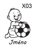 Auto nálepka - Dítě v Autě - Kluk s míčem