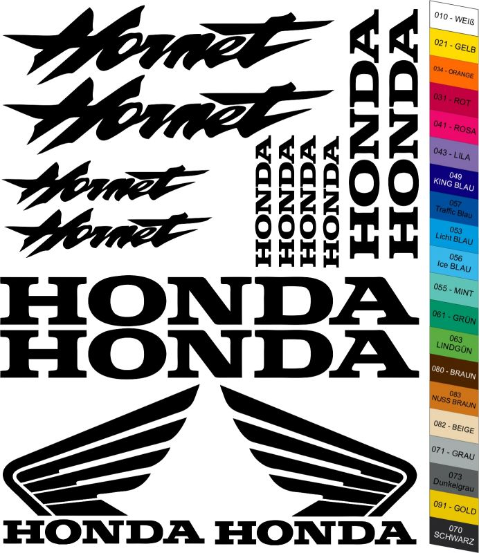 "Moto polep Sticker ""Honda Hornet"" Stickers Vinyl Home Deco"