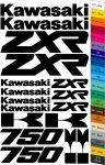 "Moto polep Sticker ""Kawasaki ZXR 750"" Stickers Vinyl Home Deco"