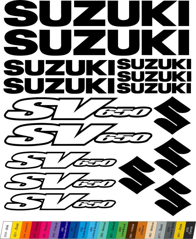 """Moto polep Sticker """"Suzuki SV650"""" Stickers Vinyl Home Deco"""