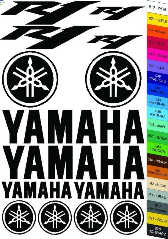 "Moto polep Sticker ""Yamaha R1"" Stickers Vinyl Home Deco"