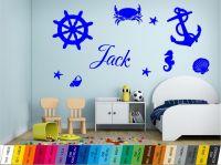 Nálepka na zeď - Mořské motivy se Jménem