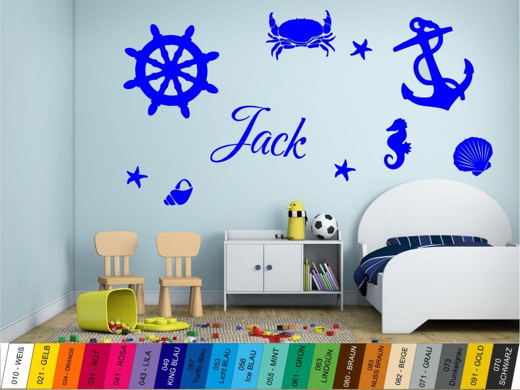 Nálepka na zeď - Mořské motivy se Jménem Home Deco