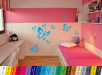Nálepka na zeď - Motýlci Sada 9ks