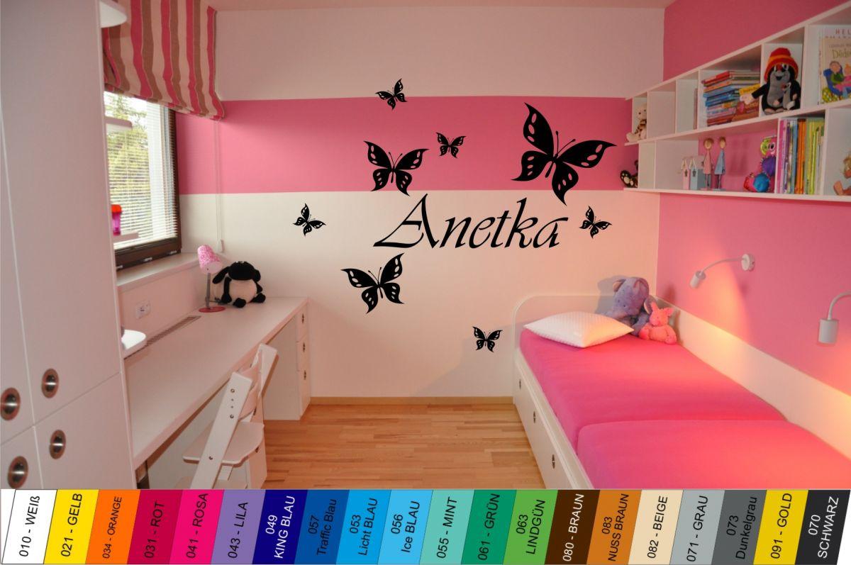 Nálepka na zeď - Motýlci se Jménem Home Deco