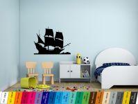 Nálepka na zeď - Pirátská Loď