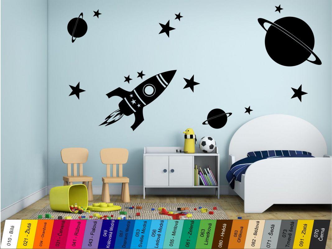 Nálepka na zeď - Vesmír Home Deco