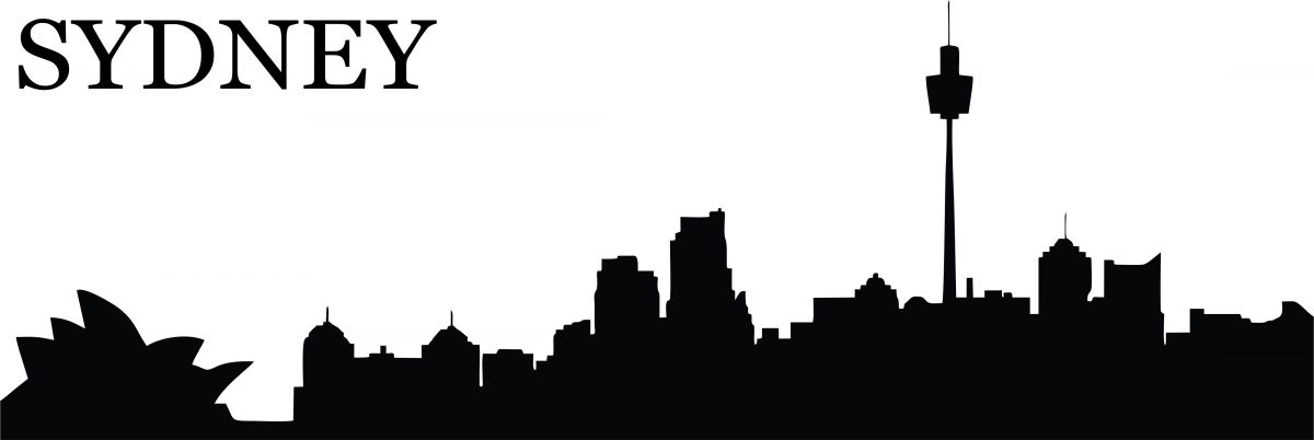 Silueta města - nálepka na zeď - Silueta města - Sydney Home Deco