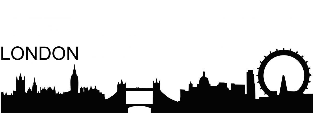 Silueta města - nálepka na zeď - Silueta města - Londýn Home Deco