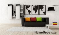 3D dřevěná dekorace na zeď - Mapa Světa Home Deco