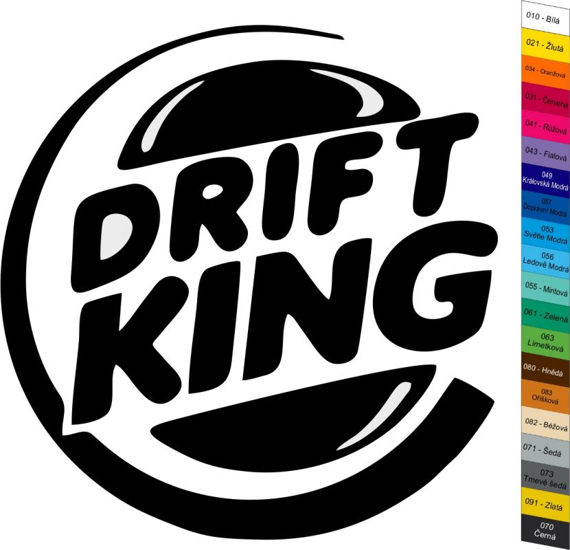 Auto nálepka Drift King - Sticker Home Deco