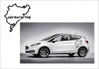 "Auto nálepka Logo ""Nürburgring"" Mapa"