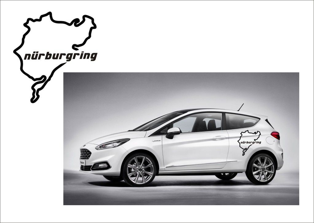 "Auto nálepka Logo ""Nürburgring"" Mapa Home Deco"