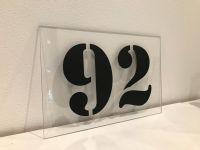 Číslo popisné na dům, plot, vchod z tvrzeného Plexi-skla Home Deco