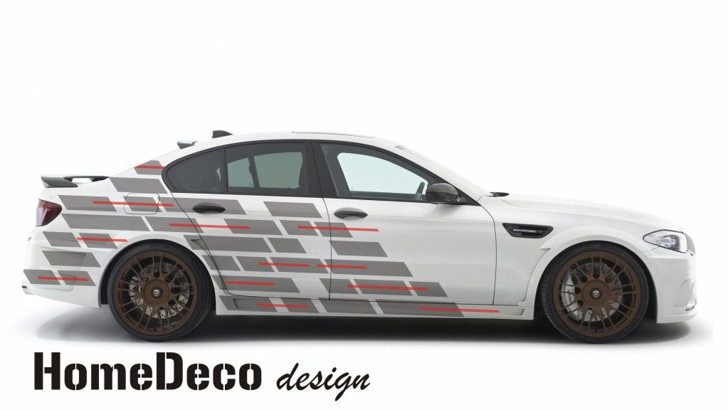 Designový polep automobilu ve stylu digital 02 Home Deco