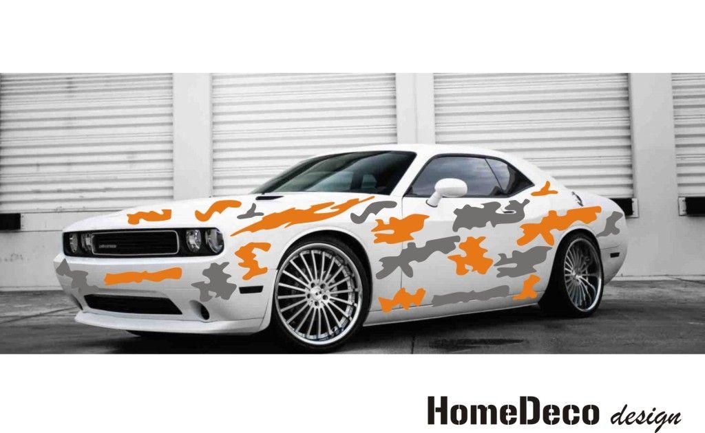 Designový polep automobilu ve stylu vojenské kamufláže Home Deco