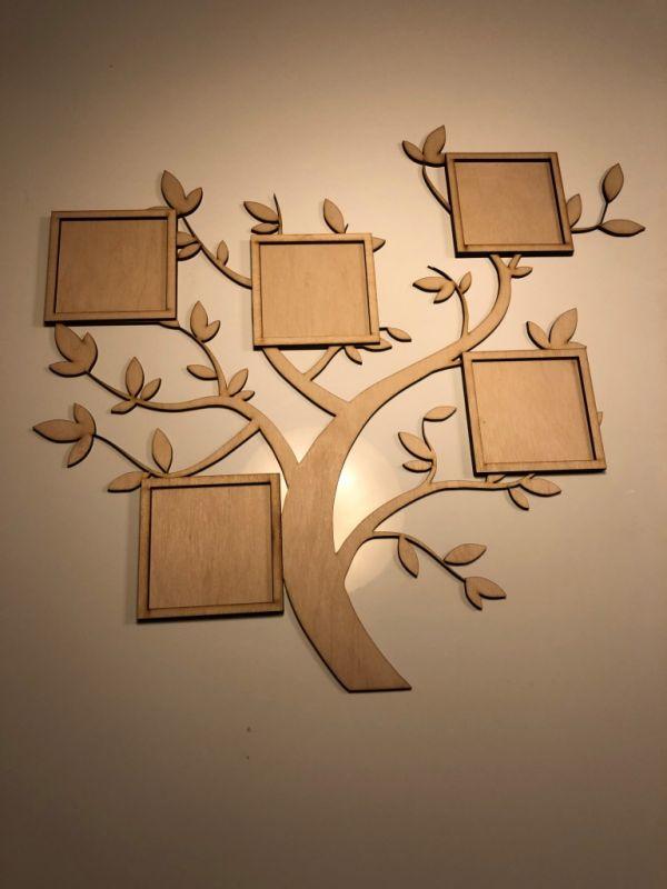 Dřevěný fotorámeček - Strom Home Deco