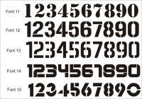 Font 012  - Moderní číslo popisné na dům, plot, vchod v provedení ALU dekor a černá