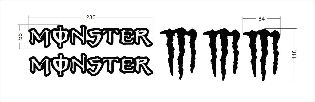 "Logo firmy ""Monster Energy"" Home Deco"