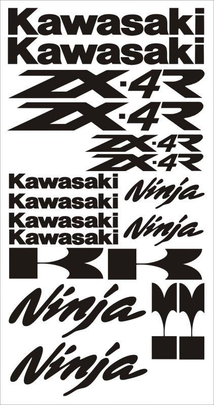 "Moto polep Sticker ""Kawasaki Ninja ZX-4R"" Stickers Vinyl Home Deco"