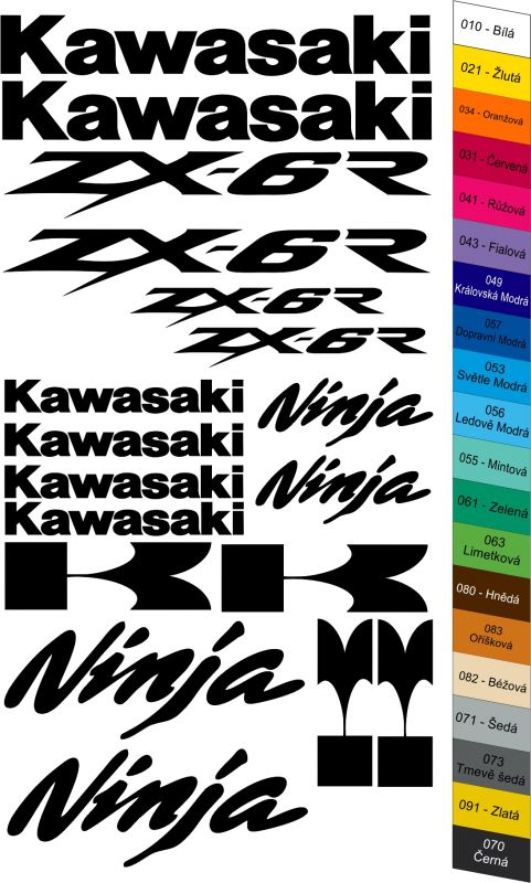 "Moto polep Sticker ""Kawasaki Ninja ZX-6R"" Stickers Vinyl Home Deco"