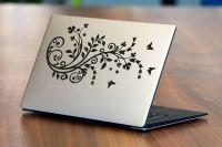 Nálepka na Notebook/Laptop - Květina s motýly