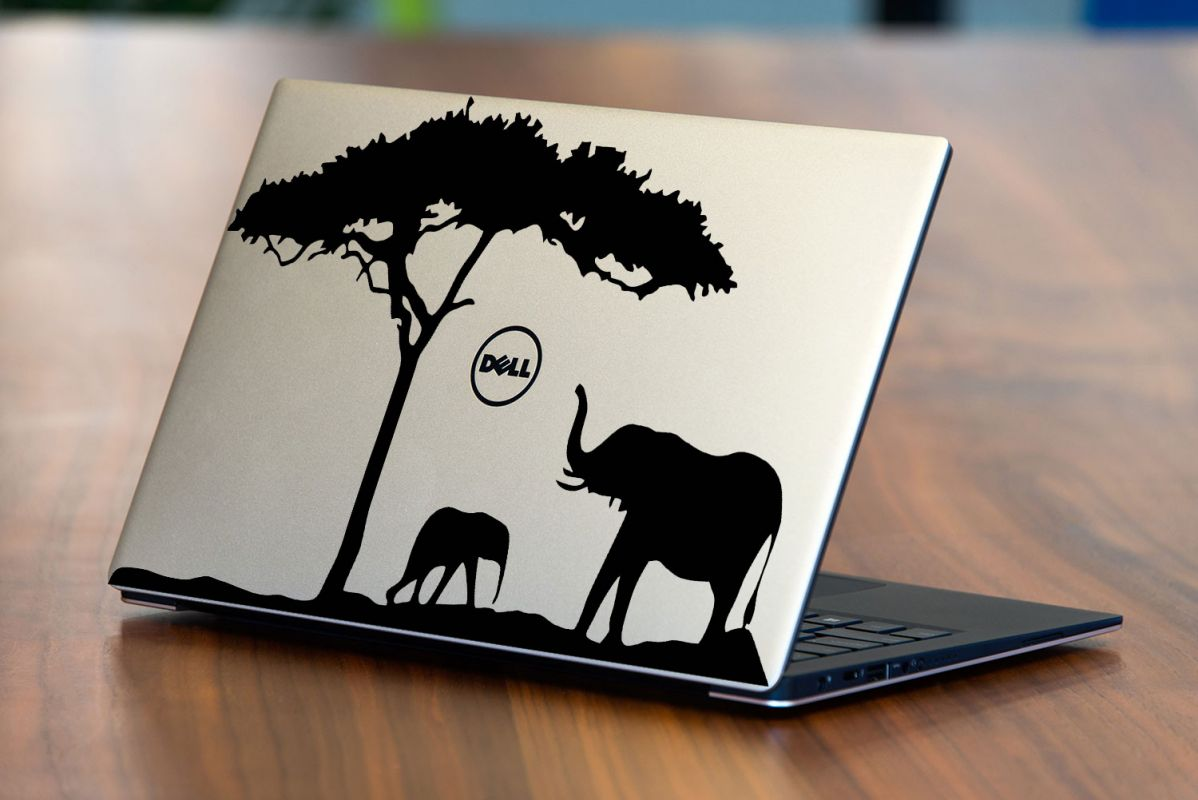 Nálepka na Notebook/Laptop - Sloni Home Deco