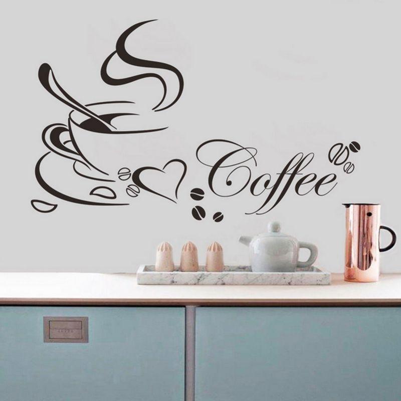 Nálepka na zeď - Káva s Láskou Home Deco