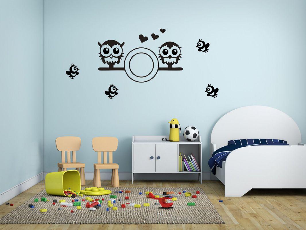 Nálepka na zeď - Sovičky Home Deco