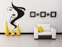 Nálepka na zeď - Účes Hairstyle Kadeřnictví