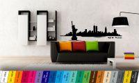 Silueta města - nálepka na zeď Home Deco