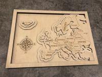 3D dřevěná dekorace na zeď - Mapa Evropy Home Deco
