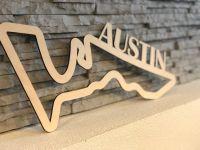 Austin Závodní okruh Formule 1 v Austinu - Dřevěné mapy závodních okruhů Formule 1