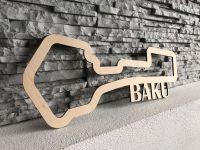Baku Závodní okruh Formule 1 v Baku - Azerbaijan - Dřevěné mapy závodních okruhů Formule 1