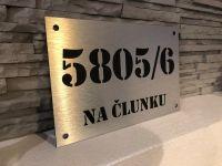 Číslo popisné na dům, plot, vchod - vzor Broušený hliník Home Deco