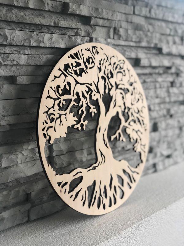 Dřevěná dekorace na zeď - Strom života Home Deco