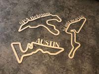 Dřevěné mapy závodních okruhů Formule 1 Home Deco