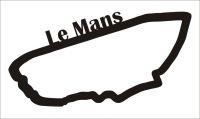 Le Mans Závodní okruh Formule 1 v Le Mans - Dřevěné mapy závodních okruhů Formule 1