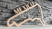 Mexico Závodní okruh F1 v Mexicu - Dřevěné mapy závodních okruhů Formule 1