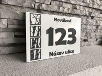 Moderní číslo popisné na dům, plot, vchod v mnoha barevných provedeních Home Deco