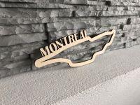 Montreal Závodní okruh Formule 1 v Montrealu - Dřevěné mapy závodních okruhů Formule 1