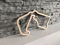 Silverstone Závodní okruh Formule 1 v Silverstone - Dřevěné mapy závodních okruhů Formule 1
