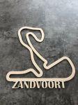 Zandvoort Závodní okruh Formule 1 v Zandvoortu - Dřevěné mapy závodních okruhů Formule 1